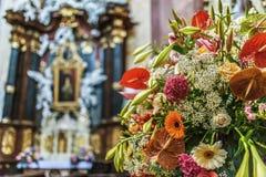 La chiesa di St Michael, Olomouc, Moravia Fotografia Stock