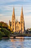 La chiesa di St Paul a Strasburgo - l'Alsazia Fotografia Stock