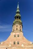 La chiesa di St Peter, Riga, Lettonia Immagine Stock Libera da Diritti