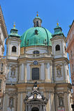La chiesa di St Peter a Vienna, Austria Fotografia Stock Libera da Diritti