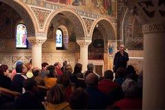 La chiesa di St Stephen in Beit Gamal, Israele immagini stock libere da diritti
