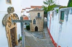La chiesa e la sinagoga in Obidos Fotografia Stock