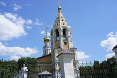 La chiesa ed il campanile Fotografia Stock