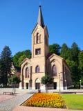 La chiesa Evangelical in Dolny Kubin ad estate Fotografia Stock Libera da Diritti