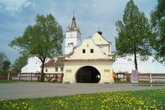 La chiesa fortificata di Harman, Brasov, la Transilvania, Romania immagine stock libera da diritti