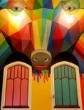 La chiesa internazionale della cannabis, chiesa domestica per Elevationism, una nuova religione fotografia stock