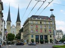 La chiesa in Lucerna, Svizzera di Hof Fotografie Stock