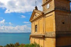 La chiesa nel mare 3 Immagini Stock