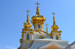 La chiesa nel parco reale in Peterhof Immagine Stock Libera da Diritti