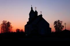 La chiesa nella sera Immagini Stock