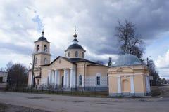 La chiesa in Novonikol nel distretto di Taldom della regione di Mosca Immagini Stock Libere da Diritti