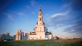 La chiesa ortodossa al tramonto in primavera 2 Fotografia Stock Libera da Diritti