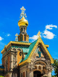 La chiesa ortodossa a Darmstadt, Germania fotografia stock