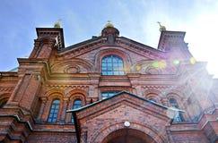 La chiesa ortodossa della Finlandia Fotografia Stock