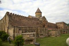 La chiesa ortodossa georgiana antica in Mtskheta immagine stock libera da diritti