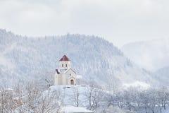 La chiesa ortodossa georgiana in Svaneti Immagini Stock