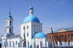 La chiesa ortodossa nella città provinciale di Zarajsk, regione di Mosca Fotografie Stock Libere da Diritti
