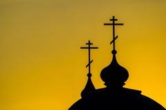 La chiesa ortodossa nella regione di Kaluga in Russia immagine stock libera da diritti