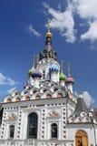 La chiesa ortodossa nello stile russo Immagini Stock Libere da Diritti