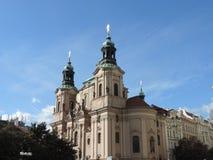 La chiesa a Praga Immagini Stock Libere da Diritti