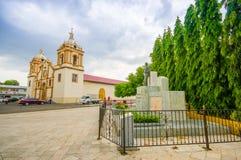 La chiesa principale del centro urbano, Santiago è una del Immagini Stock Libere da Diritti