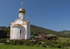 La chiesa sul territorio dell'azienda agricola maral concentrare salute-migliorante Kaimskoye dell'allevamento del centro ricreat Fotografia Stock Libera da Diritti