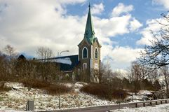 La chiesa in Västra Frölunda, Svezia Fotografie Stock Libere da Diritti