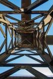 La chimenea del humo instala tubos el fabrik de la metalurgia en ARBED Luxemburgo fotografía de archivo libre de regalías