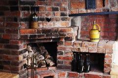 La chimenea vieja del ladrillo Imágenes de archivo libres de regalías