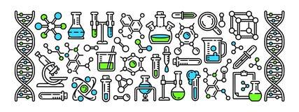 La chimica foggia l'insegna, stile del profilo royalty illustrazione gratis