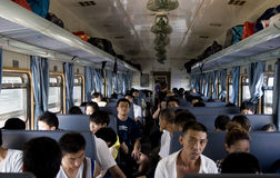 La Chine - à l'intérieur d'un train Images stock
