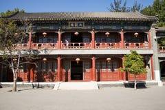 La Chine, Asie, Pékin, le jardin grand de vue, bâtiments antiques Photographie stock libre de droits