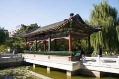 La Chine, Asie, Pékin, le jardin grand de vue, bâtiments antiques Photo stock