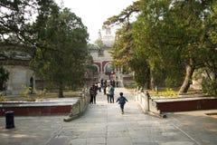 La Chine, Asie, Pékin, le temple parfumé de Œthe de ¼ d'ï de parc de colline d'Azure Clouds Photo stock