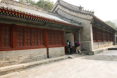 La Chine, Asie, Pékin, le temple parfumé de Œthe de ¼ d'ï de parc de colline d'Azure Clouds Images stock