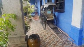La Chine, Asie, tuk de tuk, manoir bleu, Penang photos stock