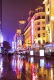 La Chine Changhaï Nanjing Rd Vert Photo libre de droits
