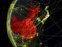 La Chine de l'espace avec le réseau photos libres de droits