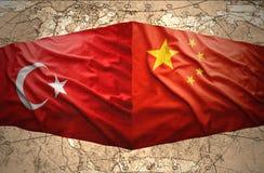 La Chine et la Turquie Image libre de droits