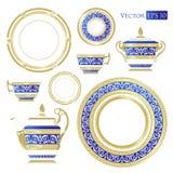 La Chine fine - ensemble de porcelaine illustration de vecteur