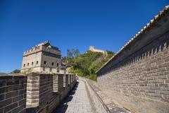 La Chine, Juyongguan Vue de la Grande Muraille avec tours de guet Photos stock