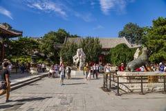 La Chine, Pékin Le secteur devant le palais Renshoudian - Hall de la bienveillance et de la longévité image libre de droits