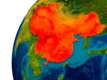 La Chine sur le globe Photographie stock libre de droits