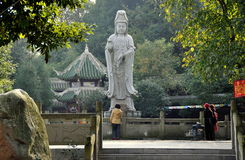 La Chine : Temple bouddhiste des FO Shan Gu XI Photographie stock