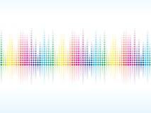 La chispa colorida abstracta del arco iris puntea el fondo Imagenes de archivo