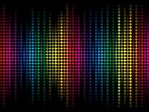 La chispa colorida abstracta del arco iris puntea el fondo Fotos de archivo libres de regalías