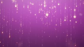 La chispa que cae llueve el fondo del encanto para las pantallas llevadas las estrellas de oro caen y desaparecen animación con l almacen de video