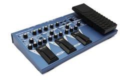 La chitarra blu effettua il pedale Fotografie Stock Libere da Diritti