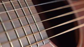 La chitarra classica parte il colpo di macro 4K Fotografia Stock Libera da Diritti
