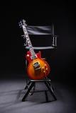 La chitarra della stella di musica Fotografia Stock